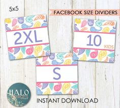 LuLaRoe Paisley Facebook Album SIZE dividers  by HALOdesignsSHOP