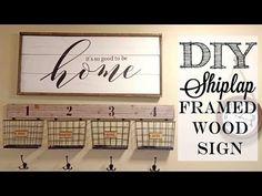 (174) DIY Shiplap Framed Wood Sign   Piecing together stencils - YouTube