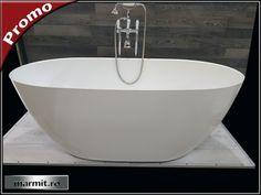 Cada baie ovala Terrano din compozit marmura | Marmit - Obiecte sanitare
