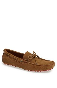 G Brown Suede Driving Shoe available at #Nordstrom
