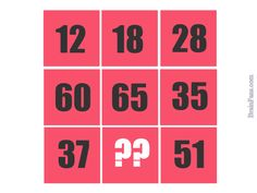 Brain teaser - Number And Math Puzzle - missing number - Find the missing number ?? Look at the rows and the numbers.