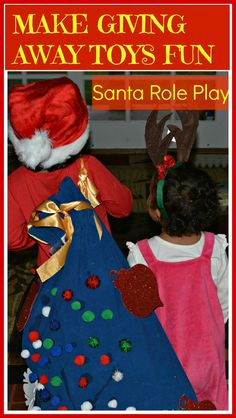 By dressing up and role playing, parents may get their kids to cooperate easier when it comes to thinning out those toys. This would not be used in the schoolroom. Christmas Hanukkah, Family Christmas, Christmas Stuff, Christmas Activities For Families, Family Activities, Winter Fun, Family Games, Family Traditions, Cool Baby Stuff