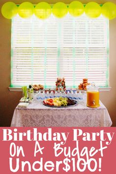 Save money while party planning. How to throw a party without spending a lot of money. How to save money on birthday parties. Budget friendly birthday party ideas. Easy birthday party ideas. Breakfast themed birthday party. How to throw a party on a budget. Cheap party planning ideas. #party #budget #frugal #dollartree #diy Party Hacks, Throw A Party, 2nd Birthday Parties, Diy For Kids, Party Planning, Budgeting, Budget Organization, Budget