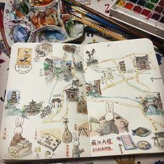 Orchids @orchiddcs 丽江地图。用竹笔...Instagram photo | Websta (Webstagram)