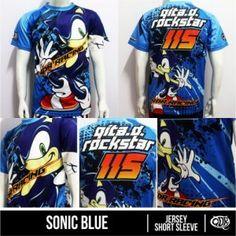 Kaos Drag Race Sonic Blue Custom Printing | Distro Custom Apparel