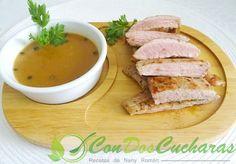 Secreto ibérico con salsa a la pimienta verde
