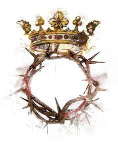 Easter Religious, Religious Art, Religious Tattoos, Jesus Jose Y Maria, Miséricorde Divine, Jesus Crown, Christ The King, Jesus Art, Catholic Art