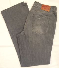 NWOT Lucky Classic Rider jean gray distressed denim straight jeans SZ 10/30 #LuckyBrand #StraightLeg #jeans #womens #gray #size10