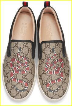 0fe780b5fe9 Gucci - Black Snake Dublin Slip-On Sneakers