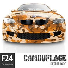 F24 Camouflage Car Wrap Auto Folie DESERT LOOP Meterware