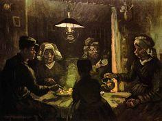 """Vincent Van Gogh - Post Impressionism - Nuenen - """"On aurait tort, selon moi, de donner à un tableau de paysans un certain poli conventionnel. Si une peinture de paysans sent le lard, la fumée, la vapeur qui monte des pommes de terre, tant mieux ! Ce n'est pas malsain. ... Un tableau de paysans ne doit pas sentir le parfum"""" V. Van Gogh"""