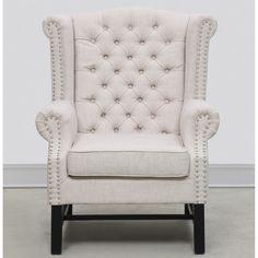 TOV Furniture Fairfield Beige Linen Club Chair TOV-63102-Beige