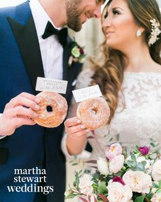 Of course donuts deserve their own day! It is and there isnt a couple who rocked donuts better than our couple and With two custom donut walls and 700 donuts total it was a very sweet day! Photo: Floral: Donuts: Wedding Day Weddings Your Big Day Bridal Shower Desserts, Wedding Desserts, Wedding Decorations, Kris Bryant Wedding, Donut Tower, Wedding Donuts, Wedding Cake Alternatives, Small Wedding Cakes, Geometric Wedding