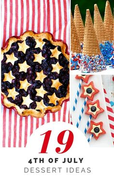 Tons of July Dessert Ideas, kid-friendly, quick, healthy, etc. Desserts Fourth Of July, 4th Of July Party, July 4th, Patriotic Party, Party Food For Adults, Dinosaur Cake, Holiday Recipes, Summer Recipes, Holiday Ideas