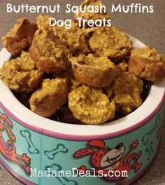 Make your dog healthy dog treats with this recipe for Butternut Squash Muffins.