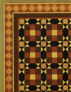Quilt? ...Tile floor design by A W N Pugin, produced in the 1840s.