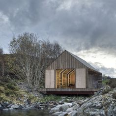 Traditional Norwegian boat houses have been used to store boats and fishing gear,but now many of them are being converted for recreational summer use. TYIN tegnestue Architects.