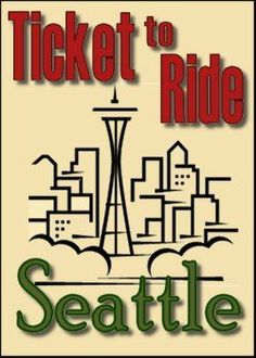 Seattle (fan expansion for Ticket to Ride) Train Route, Ticket To Ride, Registered Trademark, The Expanse, Kid Stuff, Seattle, Automobile, Core, Commercial