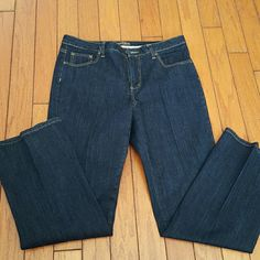 Blue boot cut secretly slender jeans Great condition wore once.. boot cut jeans average length St. John's Bay Jeans Straight Leg
