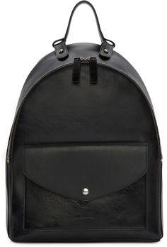 JIL SANDER Black Bridle Backpack. #jilsander #bags #leather #lining #backpacks #