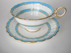 George Jones Crescent Chocolate Cup and Saucer, 1900's-1920's