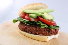 This vegan burger from Fresh Cafe cropped up on PETA's Top 10 Golden Burger Awards. You can find it in Des Moines. Burger Recipes, New Recipes, Vegan Recipes, Des Moines Farmers Market, Original Burger, Growing Wheat Grass, Farmers Market Recipes, Black Bean Burgers, Vegan Burgers