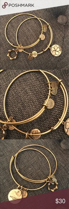 Alex and ani Two alex and ani bracelets. Slight wear and tarnishing princess crown and friend... Alex & Ani Jewelry Bracelets