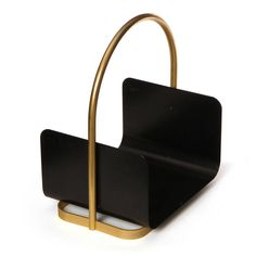 Anonymous; Brass and Enameled Metal Log Holder, 1960s. / Get started on liberating your interior design at Decoraid (decoraid.com)