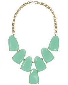 Harlow Statement Necklace in Chalcedony // Kendra Scott Jewelry