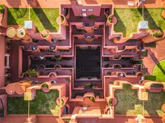 Photographer Márton Mogyorósy used a drone to capture aerial shots of Barcelona, revealing the geometry of Spanish architect Ricardo Bofill's Walden Photography Series, Drone Photography, Budapest, Ricardo Bofill, Barcelona City, Barcelona Spain, Internal Courtyard, Kengo Kuma, Drone Technology