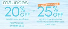 maurices coupon 25% off your regular priced purchase
