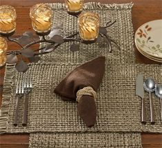 Espresso Tweed Table Runner measures 13 x 54 in dimensions from Park Designs. Shown displayed with separately available Espresso Tweed placemats, cloth napkin, Copper Handles, Parking Design, Kitchen Linens, Kitchen Decor, Natural Home Decor, Placemat Sets, Rustic Table, Warm Colors, Table Linens