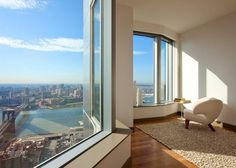 view across to brooklyn from one of the apartments located at 8 spruce street