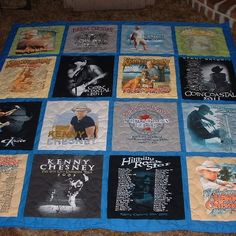 Kenny Chesney Concert T-Shirt Quilt        . Kent / Quilts T- Shirt Quilts