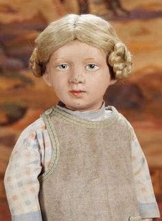 Curtain Call- The Collection of Billie Nelson: 300 Extremely Rare American Wooden Character Doll,Model 304,by Schoenhut