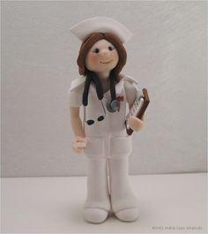 Nurse Professional Figurine custom order by JudithLynnOriginals, $40.00