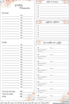 Organize a Sua Casa: Planner 2018 Planner 2018, Agenda Planner, Business Planner, Life Planner, Diy Agenda, To Do Lists Printable, Bullet Journal 2020, Free To Use Images, Journal Paper