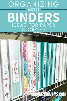 This binder system is the perfect way to get organized and stay that way. Learn how to create your own organizing system with binders here. #organizingmoms