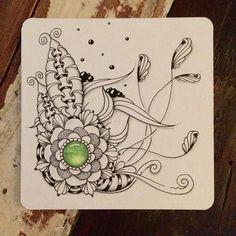 Travelling Tangle with Andrea Kine USA. #travellingtanglesproject #zentangle #zentangleart #zengems #gems #drawing #tekenen #illustration #illustratie #inkart