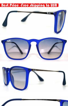 f7fb14edc8a Ray Ban RB4187 Blue Chris Sunglasses Gradient Blue Lens Unisex Accessories  NEW