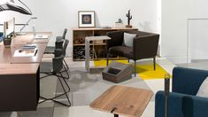 Purposeful work deserves meaningful places that blend design, materiality and performance. Office Workspace, Office Furniture, Corner Desk, Design Inspiration, Spaces, Modern, Home Decor, Homemade Home Decor, Workplace