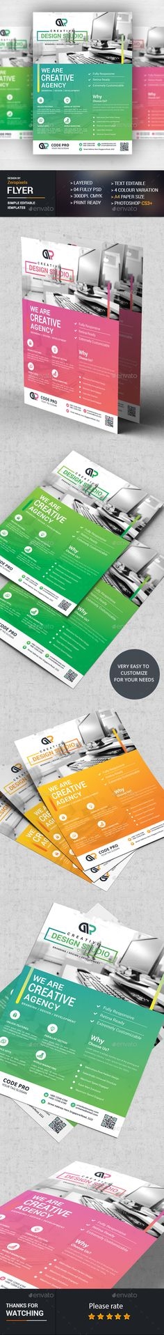 Corporate Web Flyer Design - Flyers Print Template PSD. Download here: http://graphicriver.net/item/corporate-web-flyer/16881175?ref=yinkira