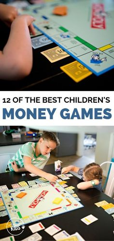 These twelve money games for kids teach valuable lessons while still being fun. Counting Money Games, Money Games For Kids, Board Games For Kids, Math For Kids, Lessons For Kids, Gifts For Kids, Activities For Kids, Learning Activities, Learning Apps