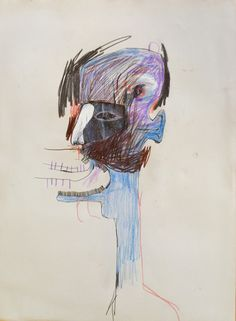 Untitled #6, 1990 - pencil on paper - Drawing by Jean-François Lepage