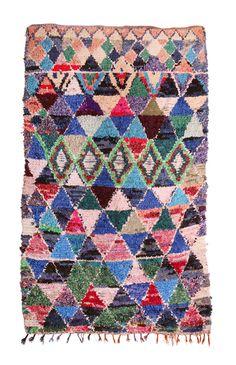 Fossik — Boucherouite Rag Rug - Triangles