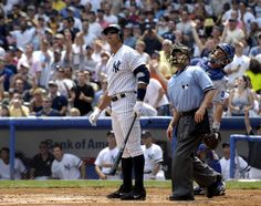 """Aug. 4, 2007: A-Rod slugs 500th career home run off Kansas City's Kyle Davies at the old Stadium. """"To do it at home, wearing this beautiful uniform, it's special. You know, I've had my trials and tribulations here in New York. I've learned from them. I've had some great times and some tough times. But a day like this kind of brings it full circle and maybe there's a happy ending for me somewhere,"""" says Rodriguez."""
