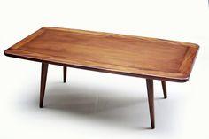 "Blue Ocean Traders: Moda Coffee Table. Mahogany mid-century style coffee table. Measures 47"" x 24"" x 17"""