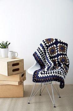 Bernat® Super Value™ Framed Granny Crochet Throw
