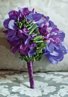 Blue and purple orchids. Bruno Duarte from Fresh Florals Creations.