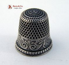 Sterling Silver Thimbles   Vintage Sterling Silver Thimble c. 1910s by BerrysGems